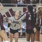 EKU VOLLEYBALL SWEEPS BELMONT ON SATURDAY IN RICHMOND