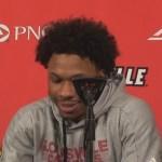 Louisville Basketball Dwayne Sutton Postgame vs Akron