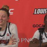Louisville WBB Kylee Shook & Jazmine Jones Recap VTech Win On Sr Night