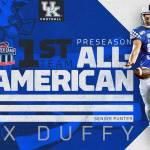 UK Football's Max Duffy Named First-Team Preseason All-American by Walter Camp