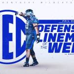 UK Football's Hoskins Named SEC Defensive Lineman of the Week