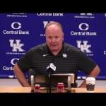 UK Wildcats Football Coach Stoops Previews LA Monroe 8-30-21
