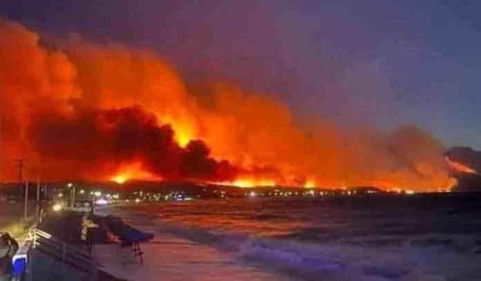 πυρκαγιά στην Κορινθία