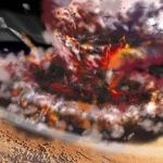 【Mars environment upheaval】Massive volcanic eruption