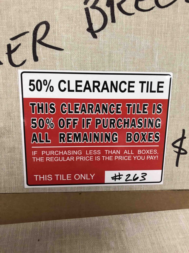 50 inventory clearance specials