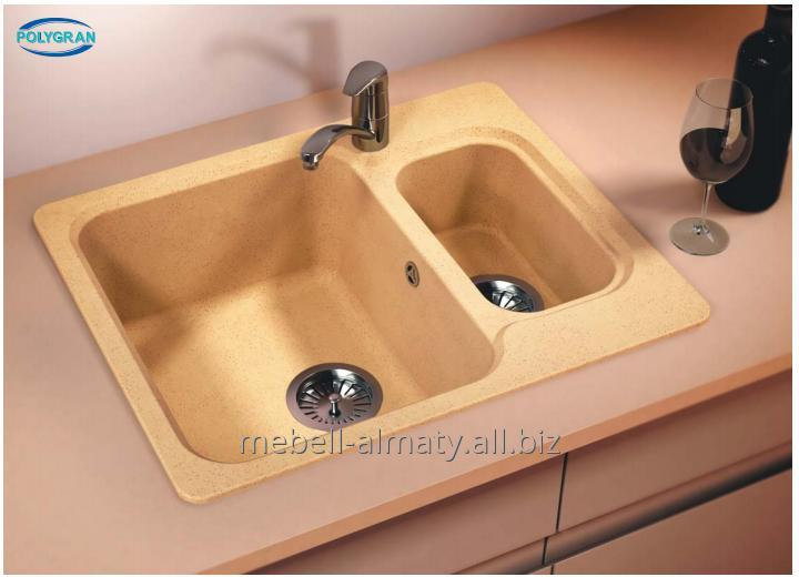 buy kitchen sink maple cabinets sinks from an artificial stone of polygran in almaty