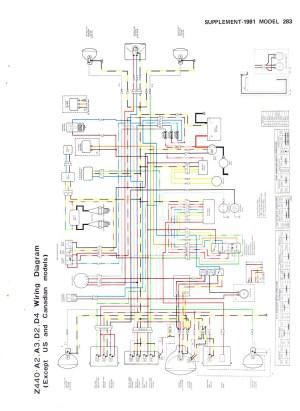 Kawasaki Kz440 Wiring Diagram  Best site wiring harness