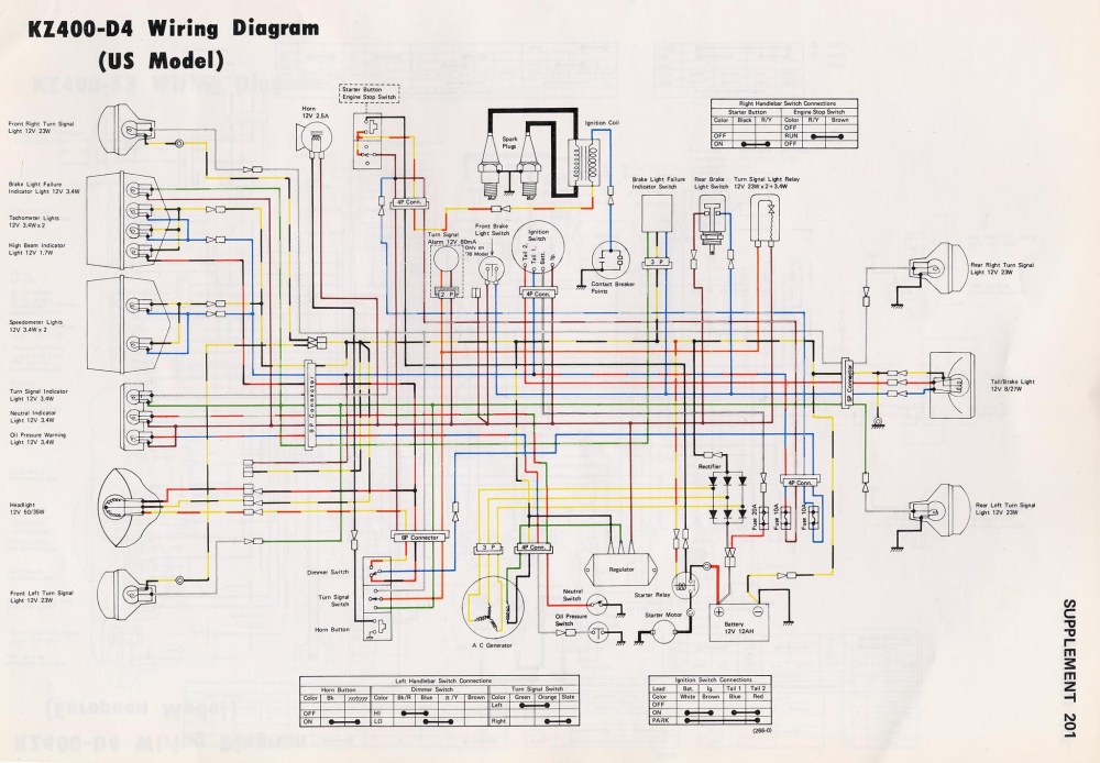 medium resolution of kz400 wiring diagram