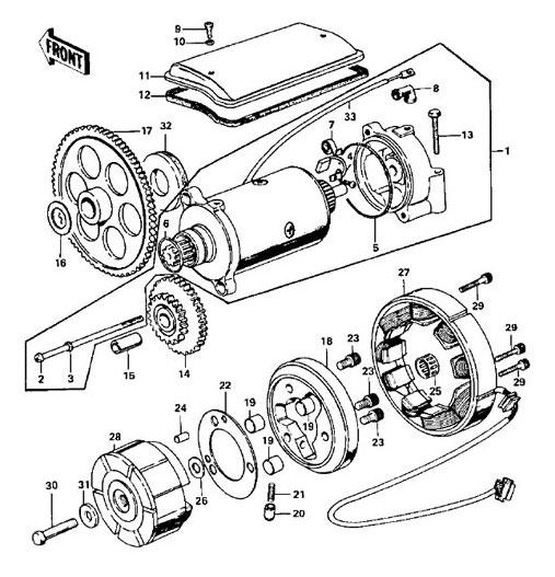Z1 900 Engine Diagram