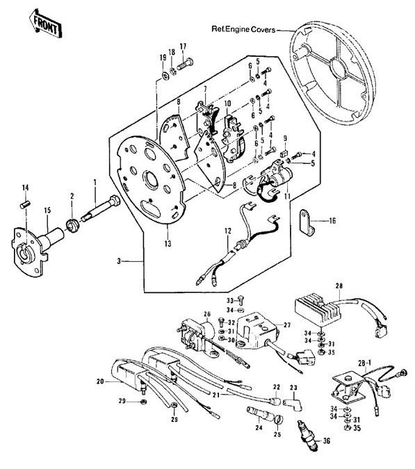 Kawasaki Kz900 Wiring Diagram. Diagram. Auto Wiring Diagram