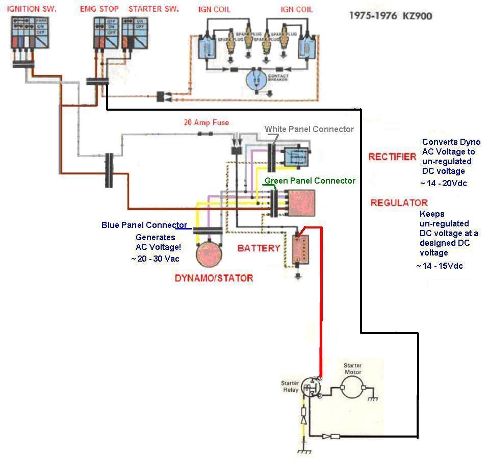 medium resolution of  kz900electricalminimum kz900 not charging correcly kzrider forum kzrider kz z1 z kawasaki voltage kawasaki voltage regulator wiring diagram