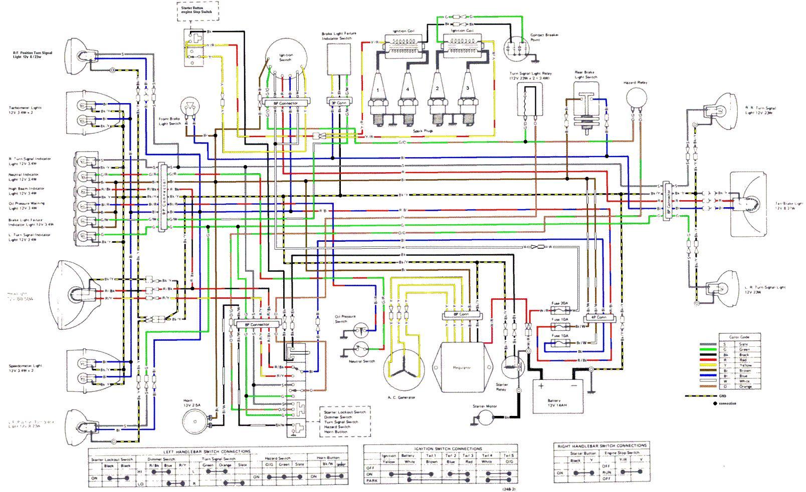1979 ct90 wiring diagram 1998 ford f150 xl radio 1977 kz1000 kawasaki motorcycle diagrams