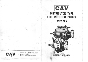 Cav Dpa 3249260 New 4 Cyl Injection Pump Ebay