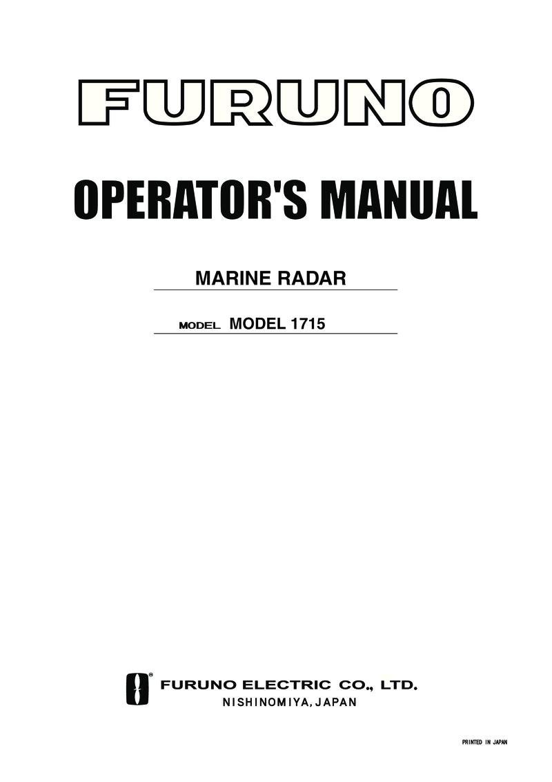 medium resolution of furuno radar operators manual furuno 1715 radar operators manual