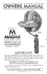 ' Magma Marine Kettle Grill Owners Manual'