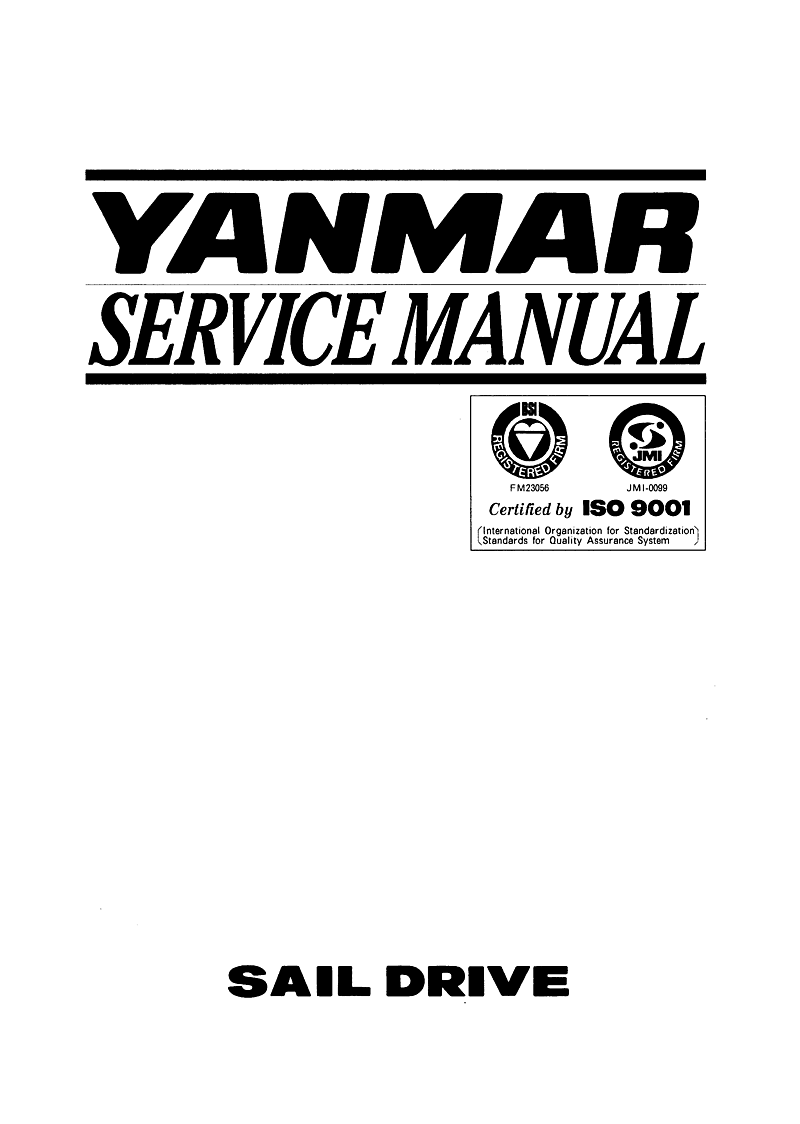 '3ym30 sd: Yanmar Saildrive Engine 29hp/22.1kw Service Manual'