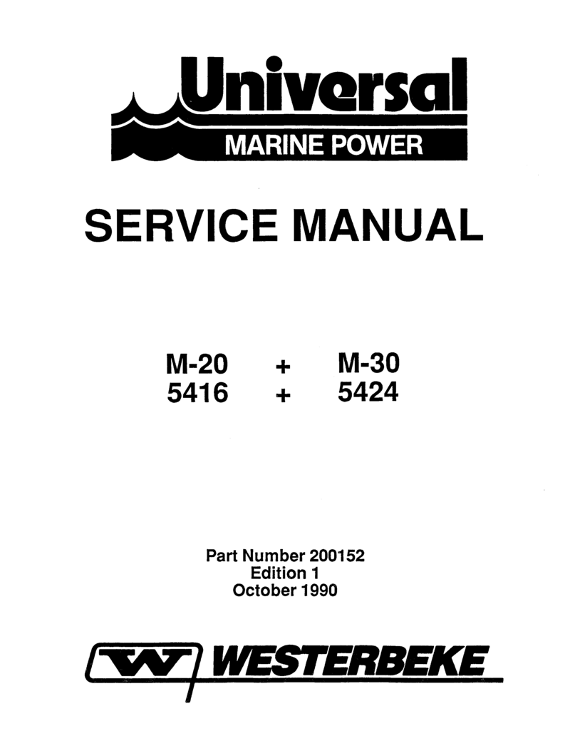 Universal Diesel 5416 Technical Manual