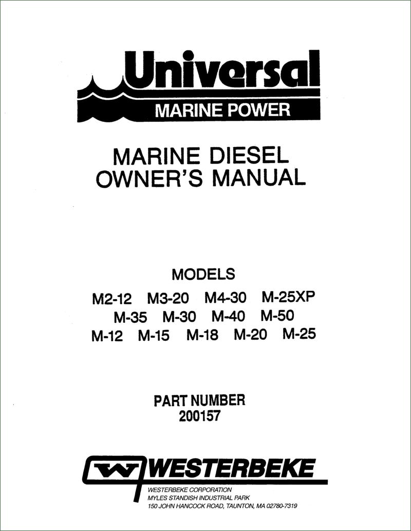 Universal Diesel M 25 Operator's Manual