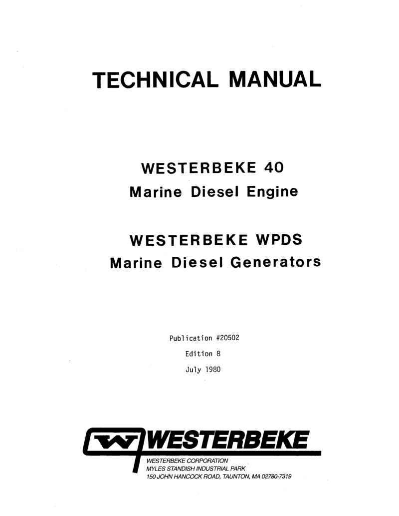 Westerbeke Diesel 4 107 Parts Manual