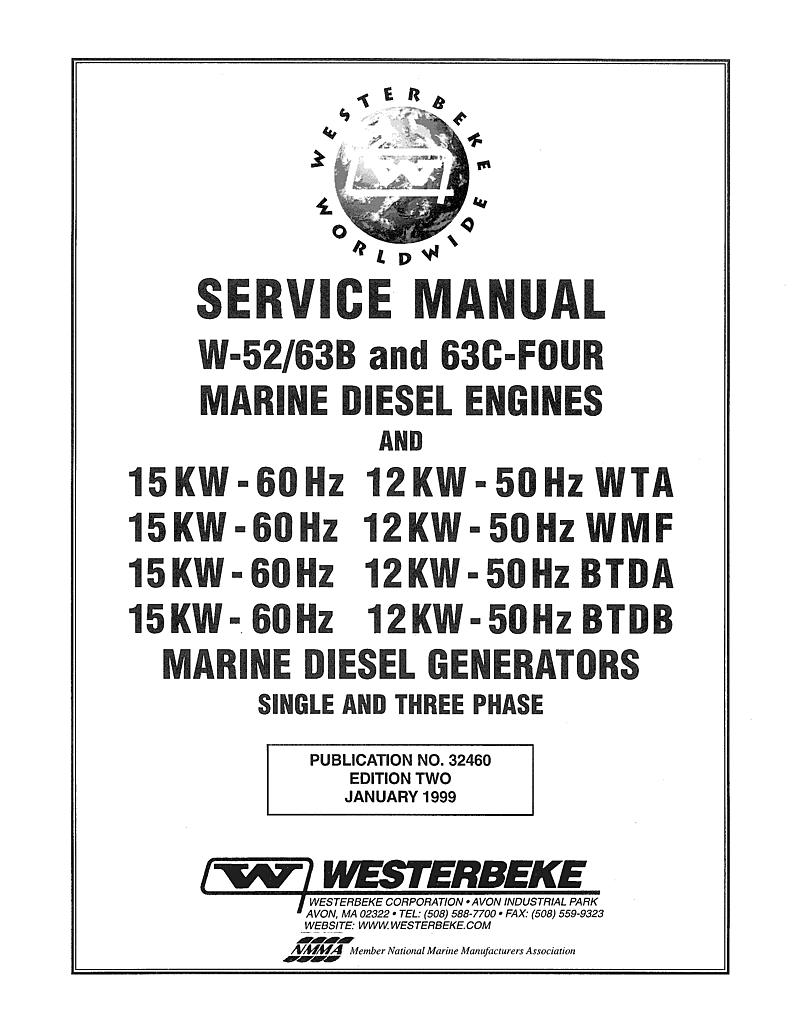 Westerbeke Diesel 63c Four Parts Manual