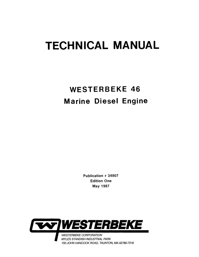 Westerbeke Diesel W 46 Parts Manual