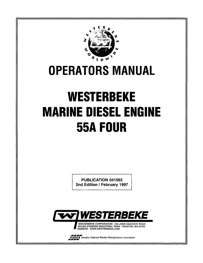 Westerbeke Diesel 44c Four Technical Manual