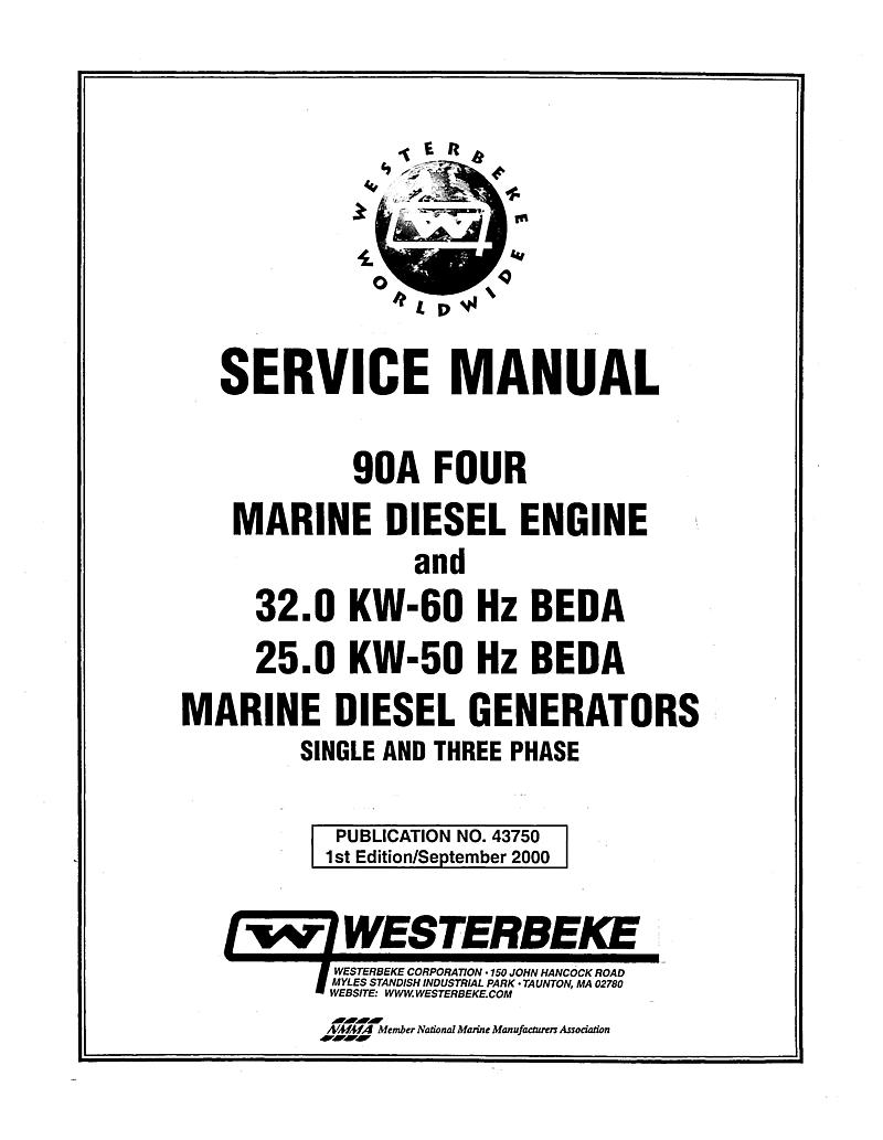 Westerbeke Diesel 90a Four Parts Manual