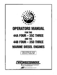 Westerbeke Diesel 42b Four Technical Manual