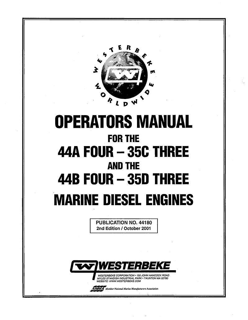 Westerbeke Diesel 35b Three Technical Manual