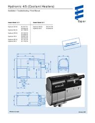 ' Eberspacher: Hydronic4 5 D4w D5w Description, Install, Maintenance,