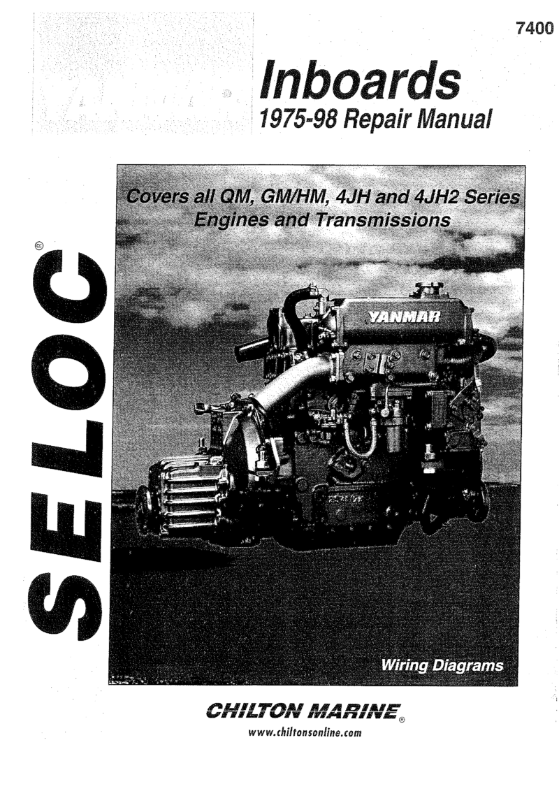 medium resolution of  yanmar qm gm hm 4jh 4jh2 repair manual yanmar 1975 1998 repair manual covers all qm gm hm 4jh and 4jh2 series engines and transmissions
