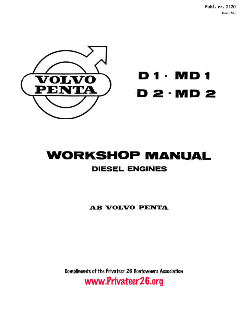 Workshop Manual For Md2b Engine