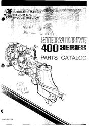 Omc 400 Series 120 And 140 Sterndrive And Engine Workshop
