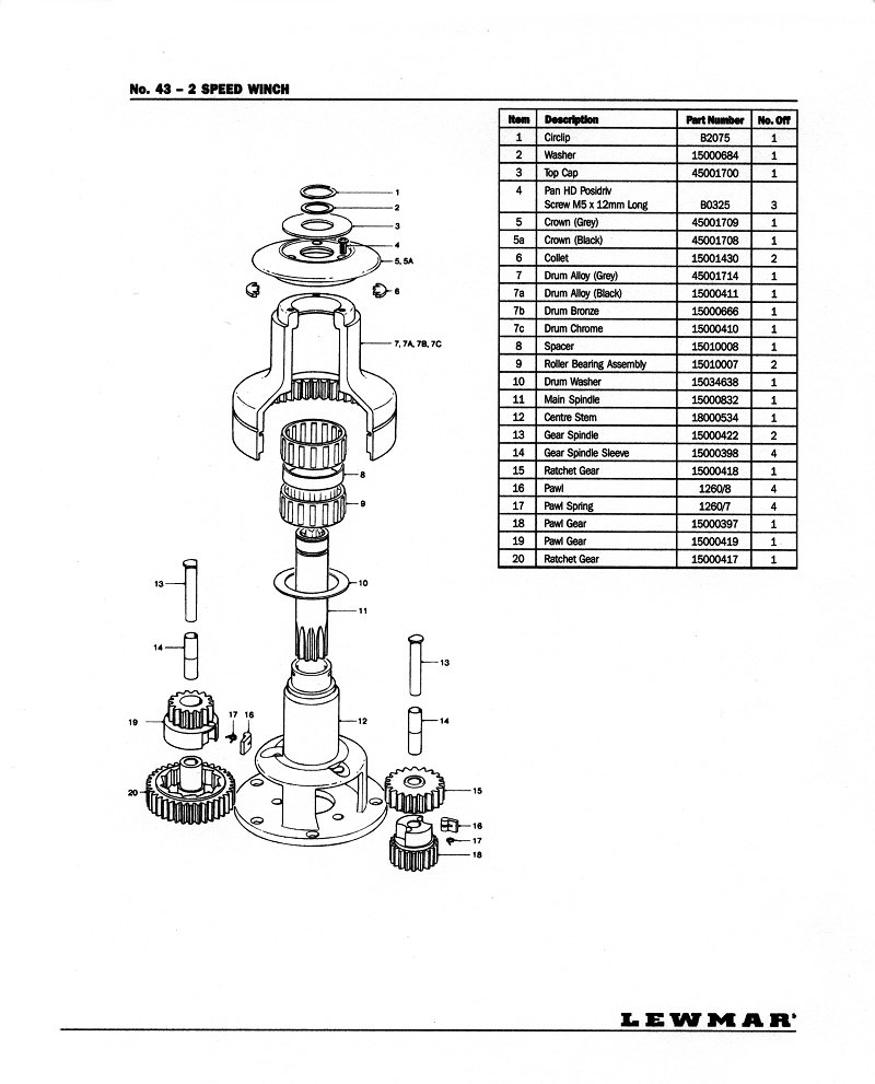 Lewmar winch service manual