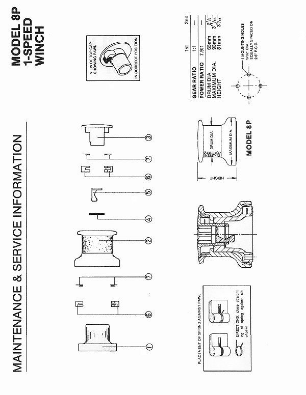 Winch Service Manual for Barient No. 8P