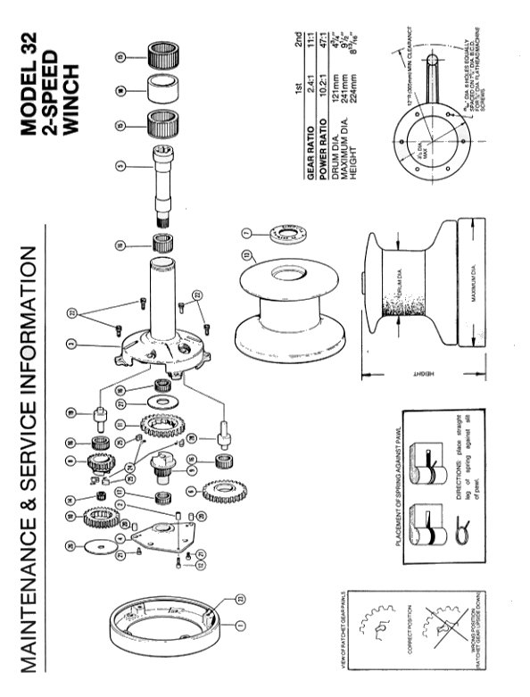 Winch Service Manual for Barient No. 32