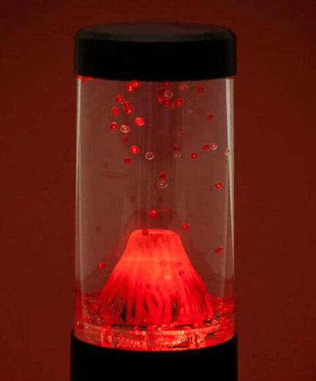 volcano lava lamp