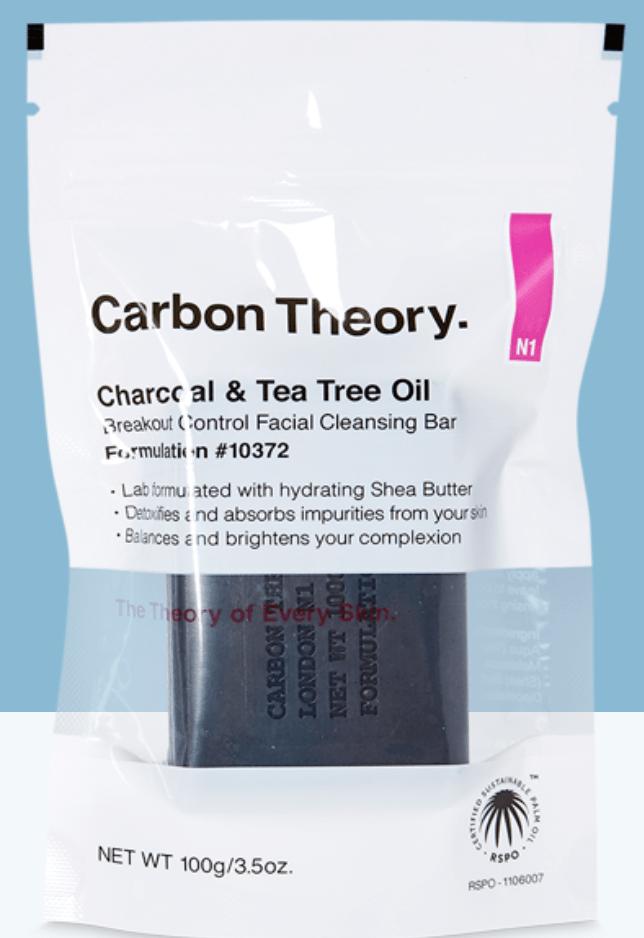 carbon theory charcoal based anti-blemish vegan soap