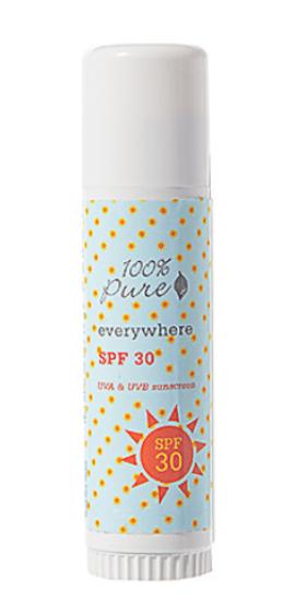 100% pure sunscreen stick