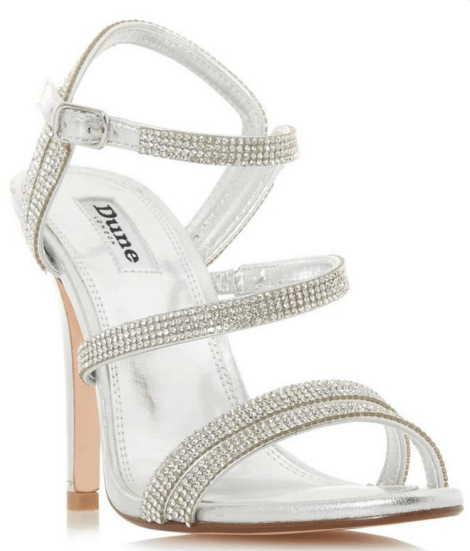 embellished strappy heels dune london