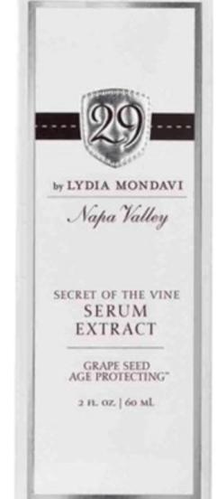 29 Secrets of the vine serum Napa Valley