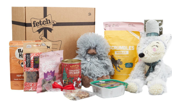 Pamper your pet at CHristmas with luxury gift box for dog
