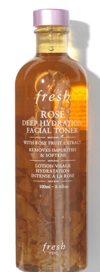 evrything to achieve glass skin, fresh rose deep hydrating toner