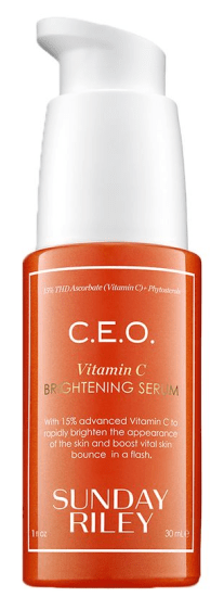 the best glycolic acid serums - sunday riley ceo brightening serum