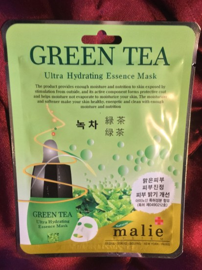 amazing sheet masks that cost less than a coffee = green tea