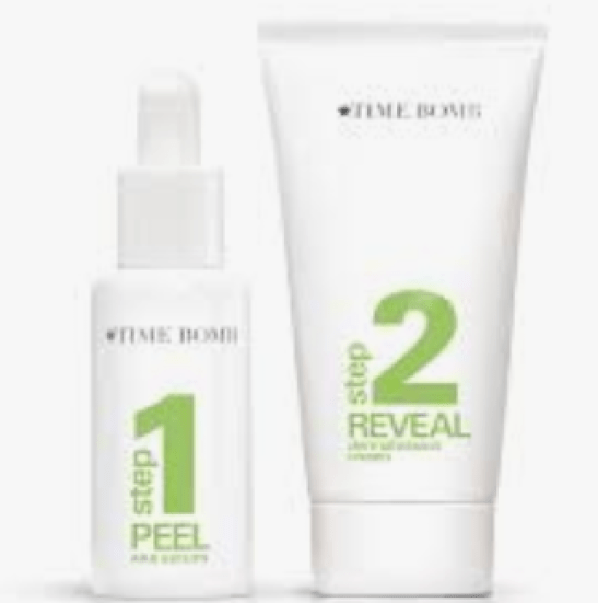Unveil your beautiful complexion with time bomb peel and reveal