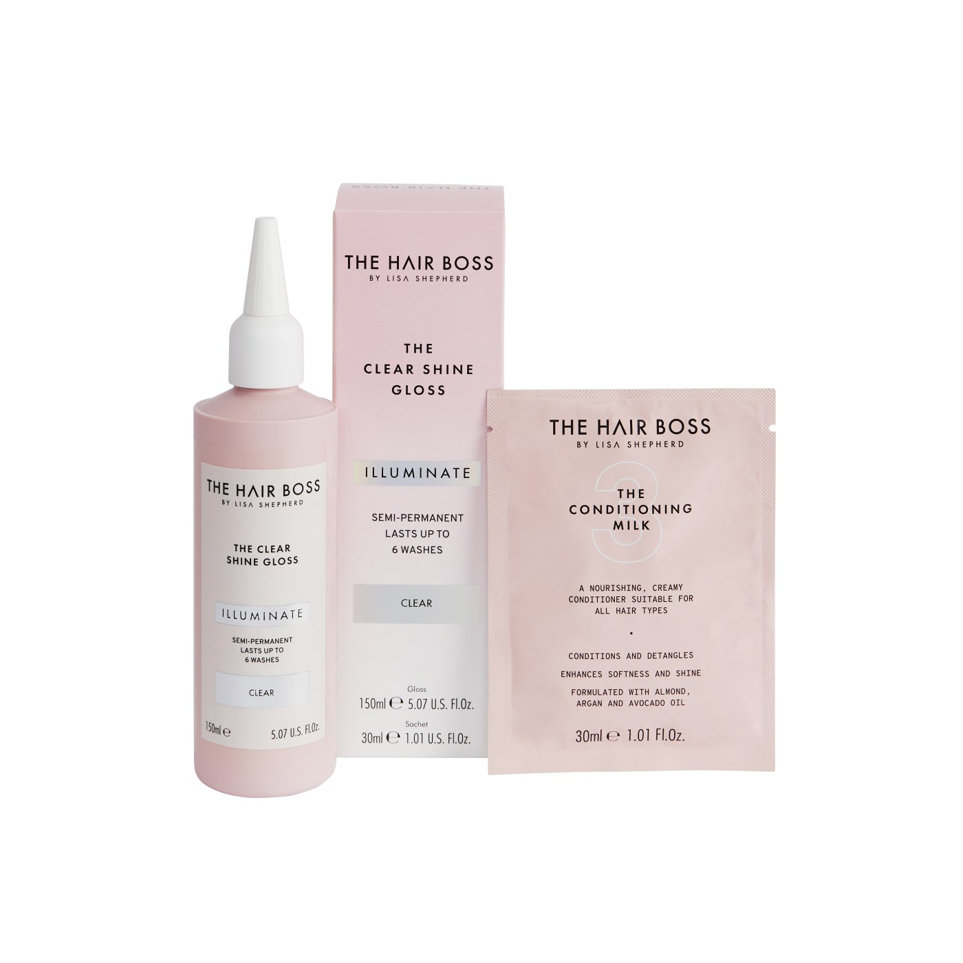 Achieve salon-worthy results with the hair boss clear shine gloss