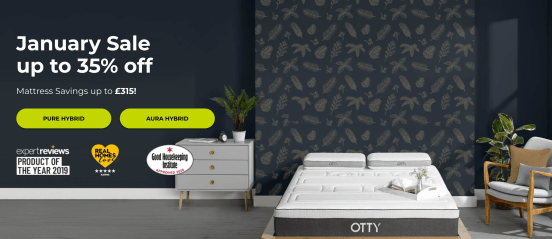 OTTY award winning mattress hybrid