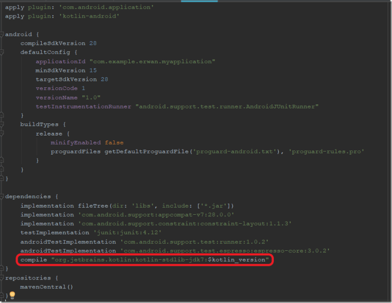 code build.gradle