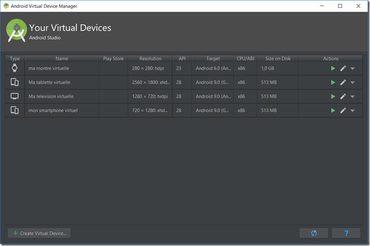 interface AVD